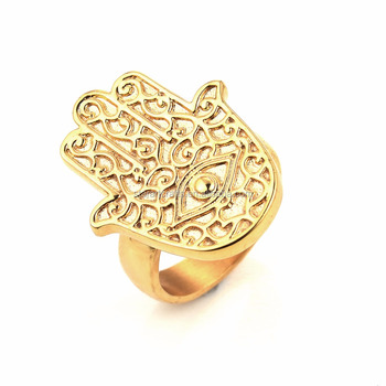 china wholesale fashion jewelry KHAMSA HAMSA evil eye rings gold
