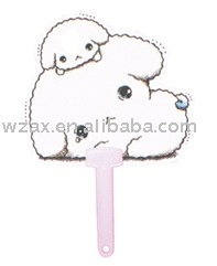 Puppy shape PP Advertising fan