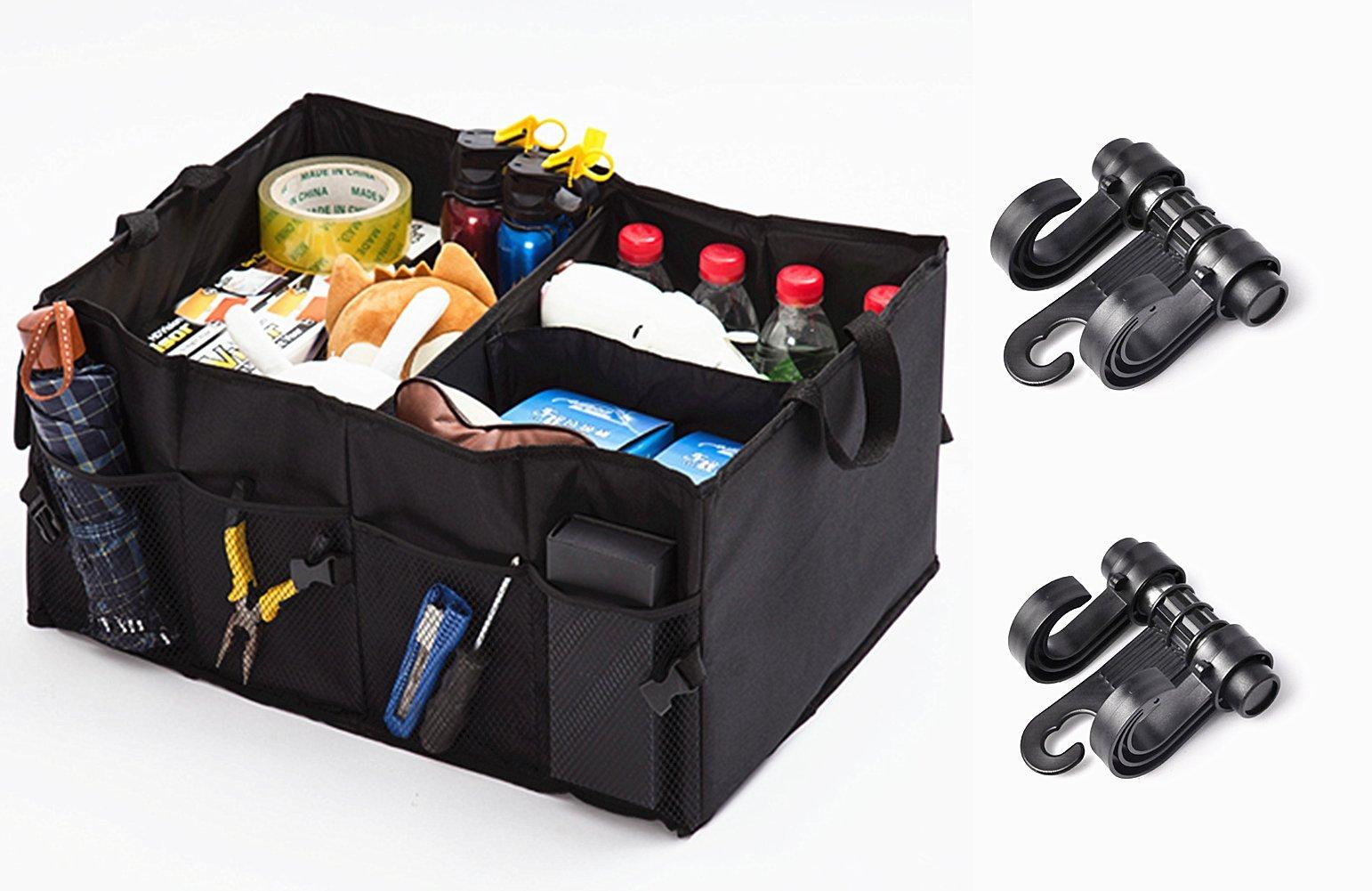 PiXiu-XP 1Car Trunk Organizer-2 Pack Seat Headrest Hook(black) Kids Accessories Backseat Organizer