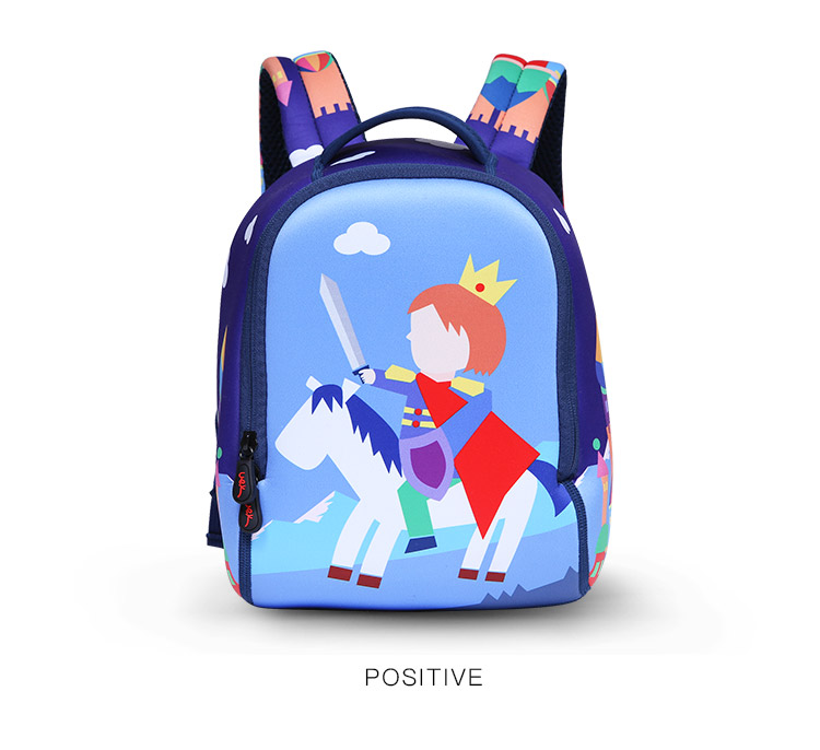 ae7b1c377e75 Uek Kids School Bag Prince Baby Waterproof Schoolbags Fashion Children  Cartoon Double Shoulder Backpack