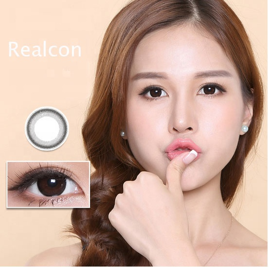 Wholesale color lenses contact Natural Black and Chocolate Soft Lens Honey Colored Contact Lenses smart contact lenses фото