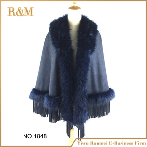 2016 New Fashion Lady Suede Scarf Wrap Suede Finge Shawl