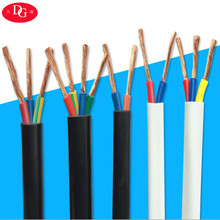유연한 동 RVV cable 5 core 4 미리메터 electrical 선 pvc cover copper wire