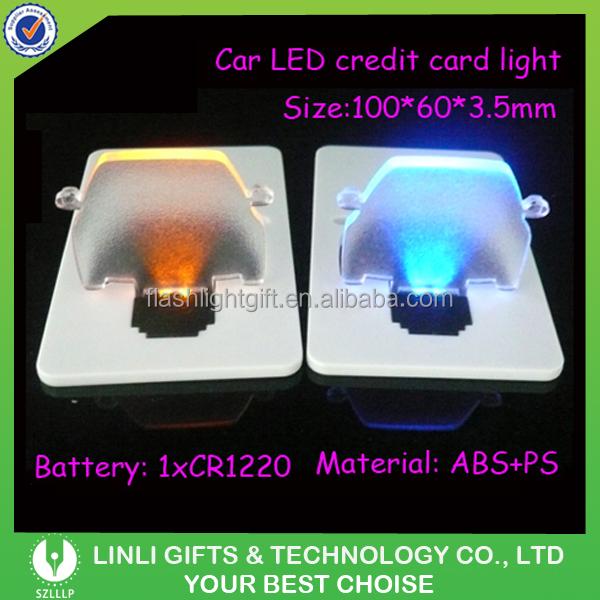 Wholesale Car Led Credit Card Light,Car Shape Pocket Card