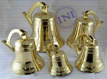 Ship Bell Group Sale, Group Ship Bells for Sale, Hanging Brass Bell In 5 size