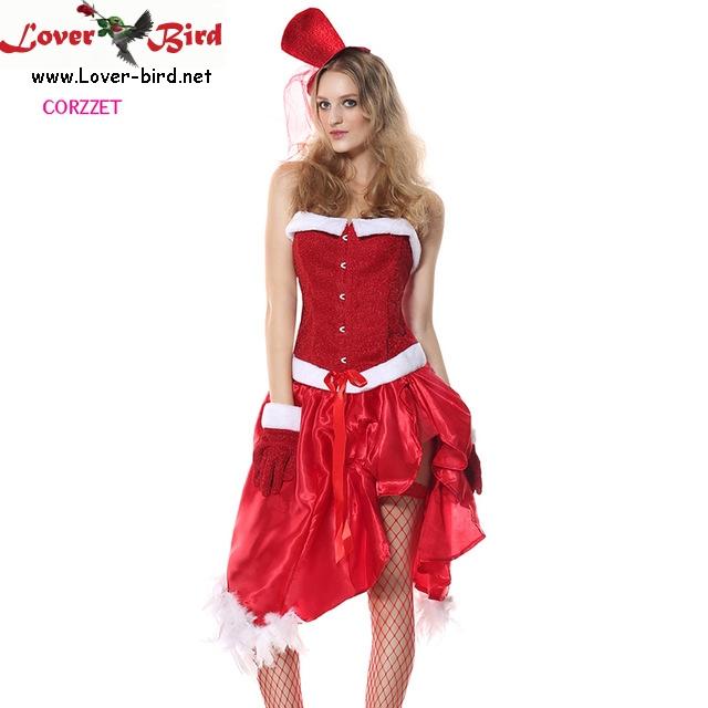 fc93afb74881e 5 pièces Rouge Adulte Costume de Père Noël Santa Bébé Jeux de Rôle Tenues  Fantaisie Robe. Grossiste déguisement de noel ...