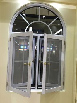 White Color Aluminium Arch Windows Grills Design With