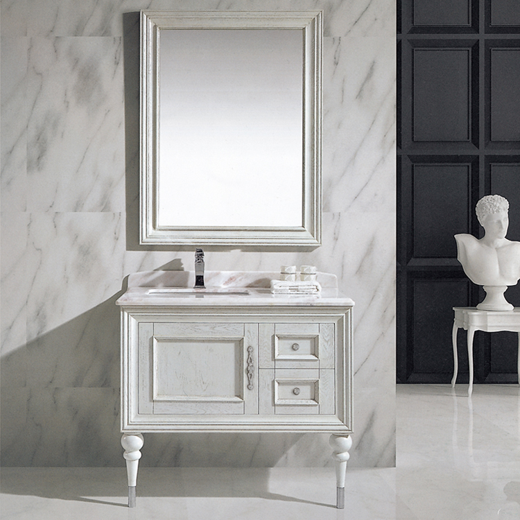 HS-G13145 white elegant italian modern bathroom furniture italy