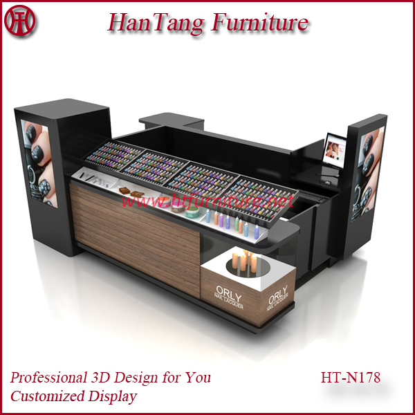 High end shopping mall indoor beauty salon furniture display design