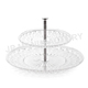 tableware double layers cake plate/cookies dishes/plastic cake plate tower