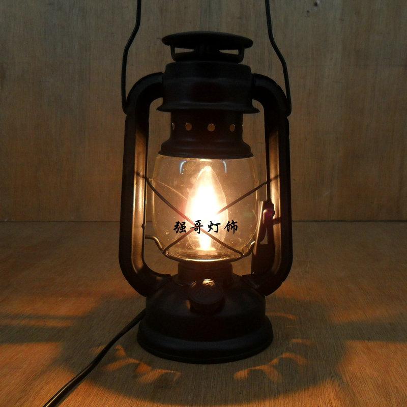 Fashion Vintage Wrought Iron Lantern Brief Rustic Bedroom