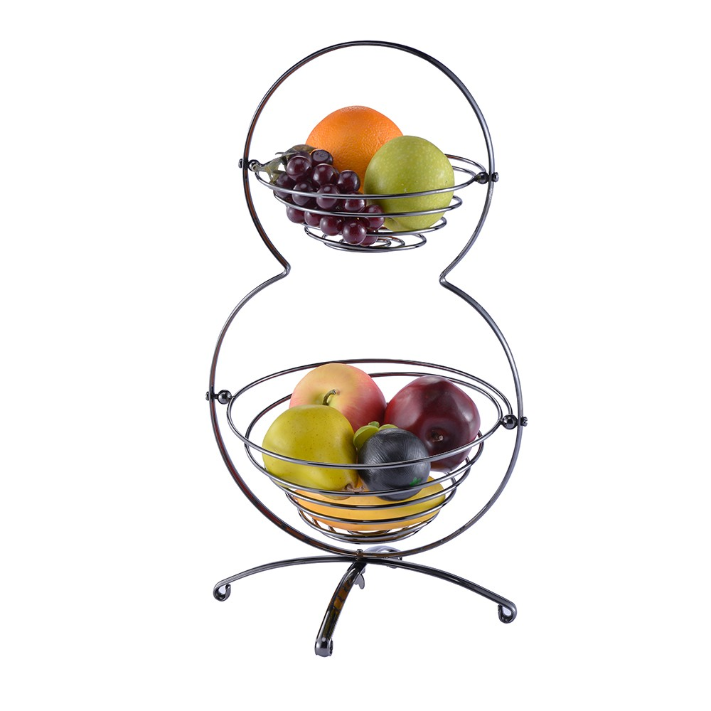 Chrome Iron Metal Home Decorative Kitchen Storge Wire Fruit Basket