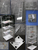 Removable flat design acrylic newspaper display rack for sale