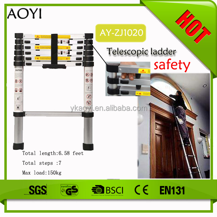 AOYI double-side telescopic ladder two step