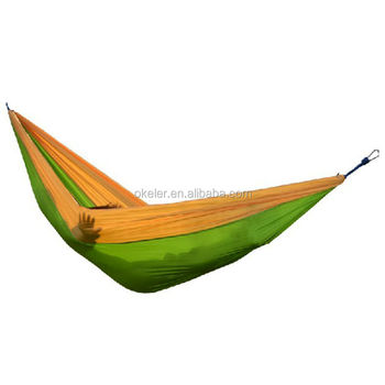 Portable Parachute Nylon Fabric Travel Camping covered rocking hammock for One Single Person