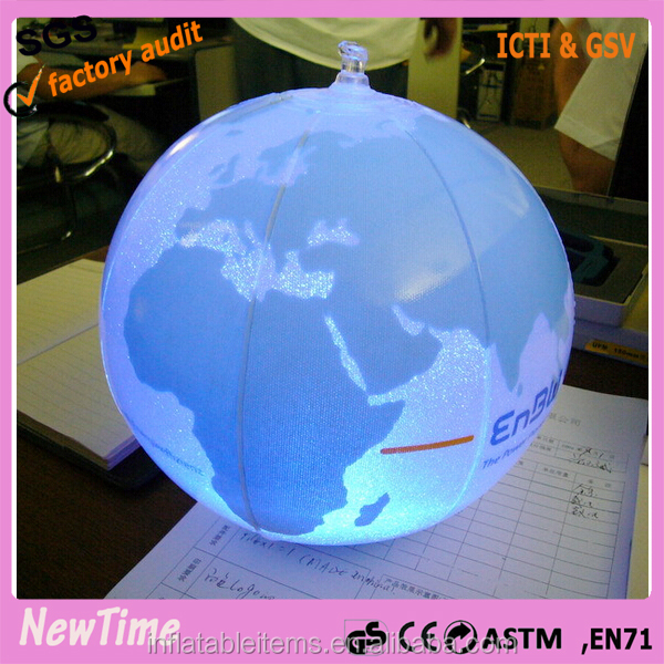 inflatable LED world map beach Ball for event and party