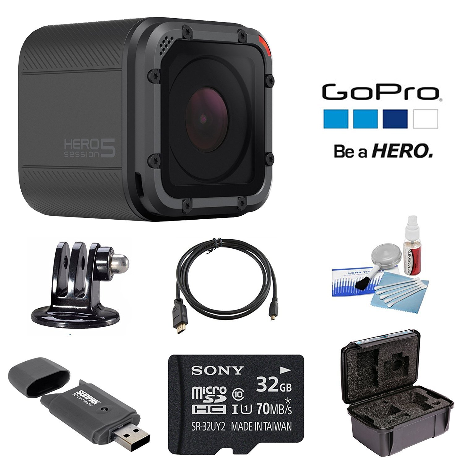 Includes Standard SD Adapter. lossless recording Professional Ultra SanDisk 32GB MicroSDHC Card for GoPro HD Hero 2 HD Camcorder is custom formatted for high speed UHS-1 Class 10 Certified 30MB//sec