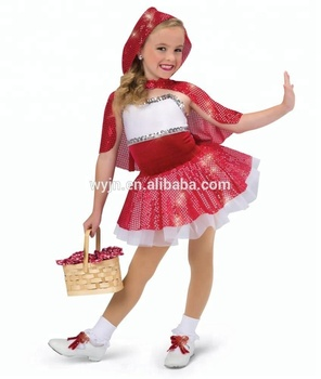 709fa2753615 Children Little Red Riding Hood Performance Tap And Jazz Dance Dress ...