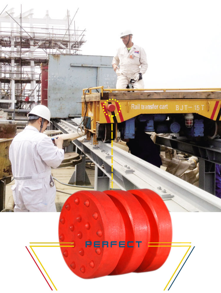 Rubber Buffer Applied In Transfer Cart, Transfer Trolley & Rail Flat Cart