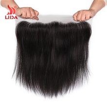 top closure human hair frontal lace straight closure unprocessed virgin hand tied 13*4 10-18inches silk base closure