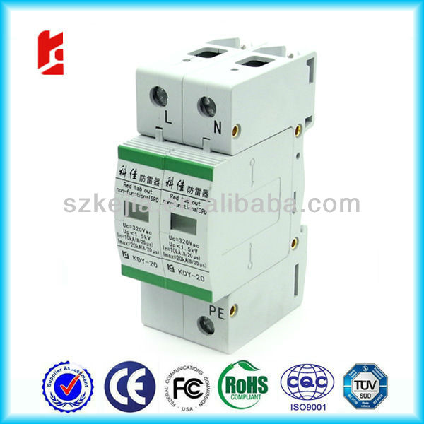 three phase electrical equipment protection device AC220 SPD/ surge arrester