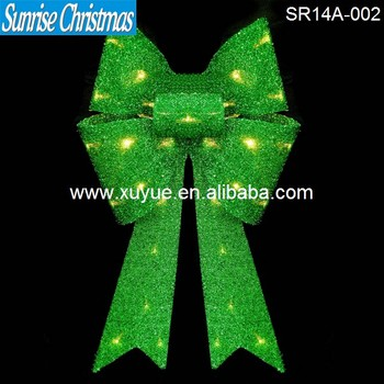 led lighted christmas bows with light