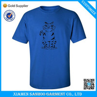 High Quality 100% Ring Spun Cotton Man T Shirts Solid Color O-Neck Thick Fabric Wholesale
