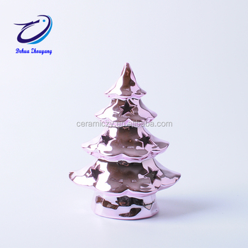 Ceramic Tabletop Christmas Tree With Miniature Ornaments