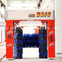 Automatic tunnel car wash machine 7 brushes with dryer