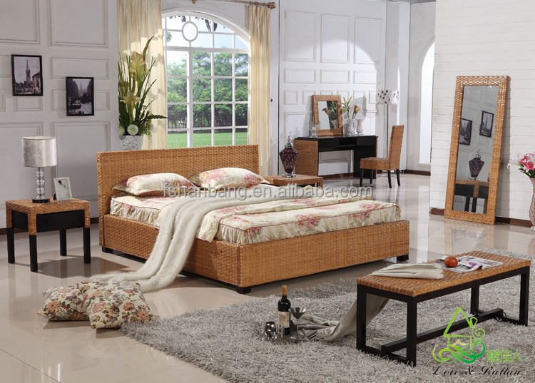 haus villa hotel franz sisch rattan plattform bett rattan. Black Bedroom Furniture Sets. Home Design Ideas