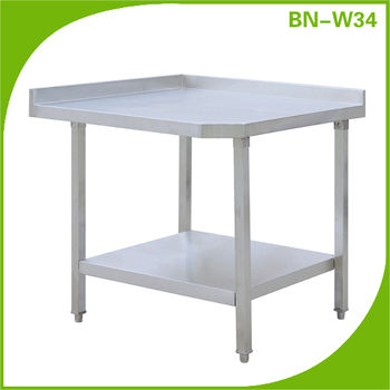 Commercial Stainless Steel Work Table For Used In The Kitchen Marble Top