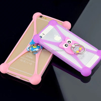 Well Protect Soft Silicone Phone Case For Smart Phone With Ring