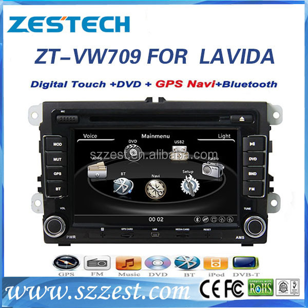 Best manufacturer car dvd players gps navigation for VW LAVIDA with Touch screen 3g wifi car audio