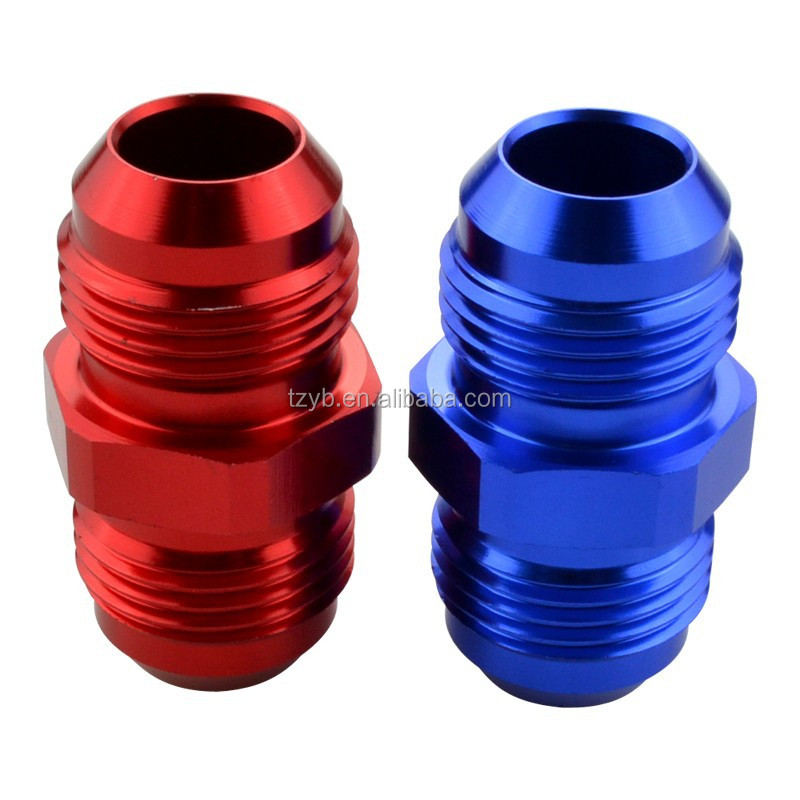 -12 AN Male Flare To -10 AN Male Flare Union Reducer Hose end Adapter -Red/Blue