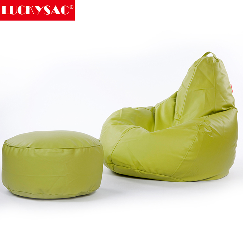 Leather Bean Bag Corner Sofa With Movable Headrest Bulk Chairs Product On Alibaba