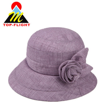 6157fb6728b Custom Summer Outdoor Women Cap Hot Sale Elegant Bucket Hat ...
