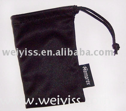custom printed velvet pouch with rop[e belt for promotion gifts