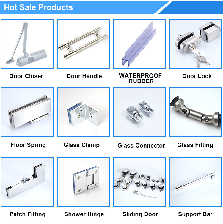 Factory price stainless steel glass door sliding door roller system