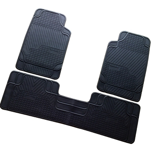 3pcs/set universal size custom logo no smell anti-slip PVC rubber car floor foot mats