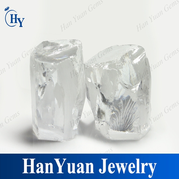 Hot sale raw cubic zirconia material white raw untreated CZ