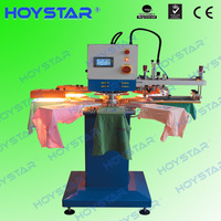 Rotary screen 2 color garment label printing machine with dryer