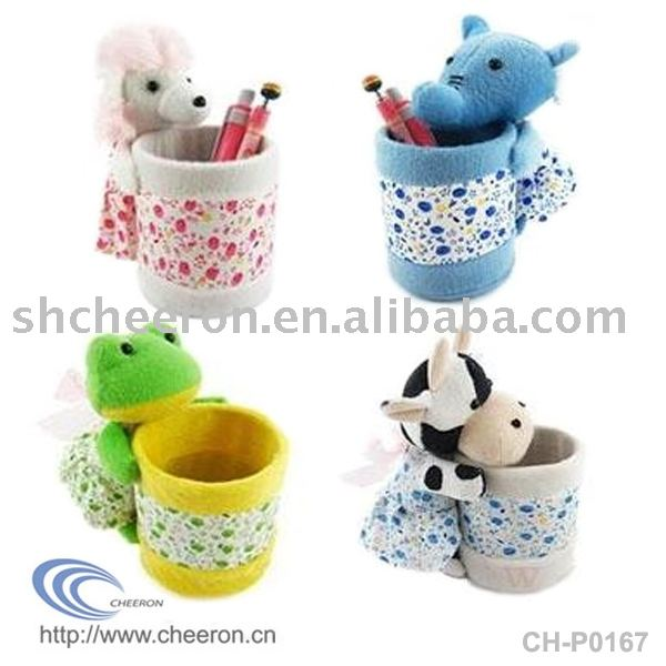 Plush Pen Holder, Animal Pencil Holder