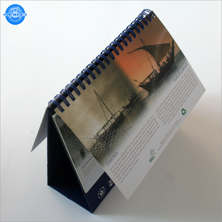 Selling promotional chinese paper table calender customized for office