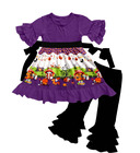 Wholesale Children's boutique Halloween outfits baby's clothing fall winter clothing with cotton ruffle pants