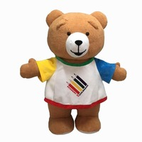 2m custom dancing giant inflatable teddy bear mascot costumes with T-shirt