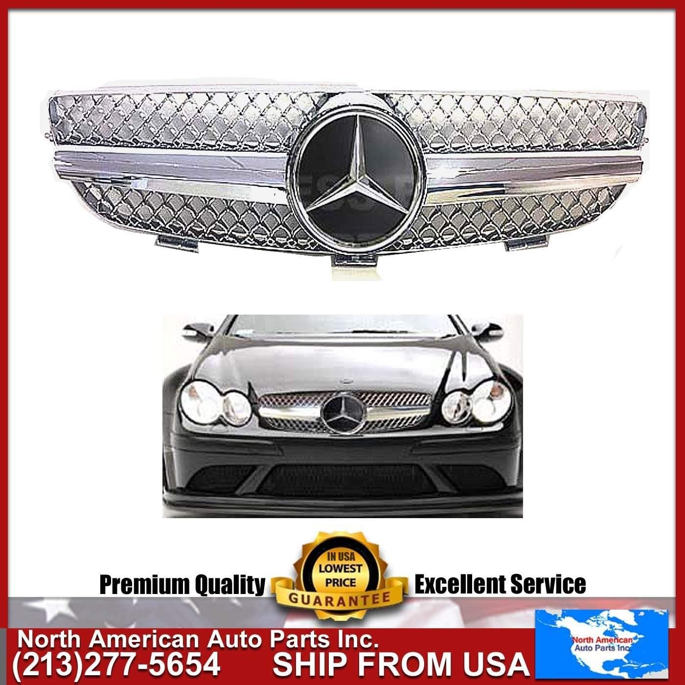 Cheap Benz Clk500 Find Deals On Line At Alibabacom Mercedes Ml270 Fuel Filter 2002 Get Quotations Clk 2003 2009 W209 Chrome Grille Amg Style With Oem Star Emblem