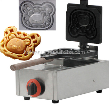 Hot Sale Lpg Gas Commercial Bear Waffle Maker - Buy Bear ...