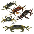 5pcs lot Lifelike Artificial Soft Fishing Lures Crab Bait With Sharp Hooks Fishing Tackle Accessory Tool