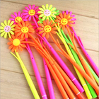 plastic wrapped with cloth smile sunflower funny cartoon pen
