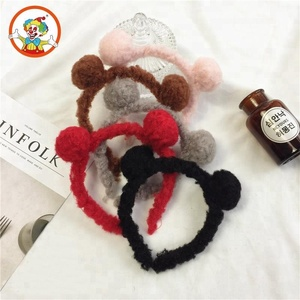 Wholesale Korean Design Cute Yarn Bear Ears Headband For Children